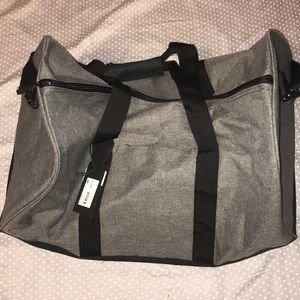 NWT Gray Duffle Bag